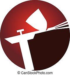ロゴ, 吹き付け器