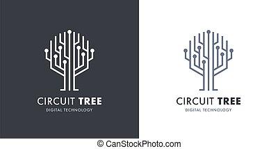 ロゴ, 回路, 木