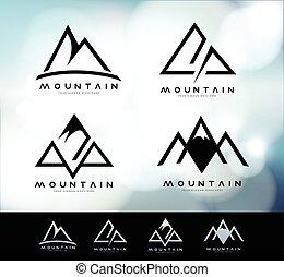 ロゴ, 型, 山