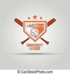 ロゴ, 大学, スポーツ, 野球
