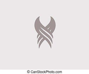 ロゴ, 天使, 創造的, 会社, アイコン, 翼