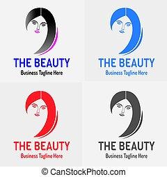 ロゴ, 女の子, 美しさ