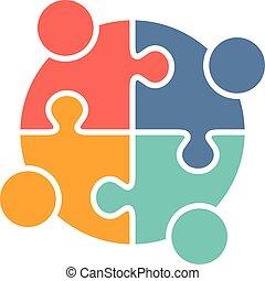 ロゴ, 家族, 人々