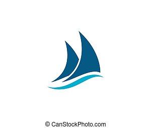ロゴ, 帆走しているボート