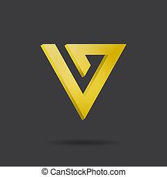 ロゴ, 手紙, v