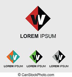 ロゴ, 手紙, w