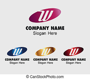 ロゴ, 抽象的なデザイン, w, 手紙