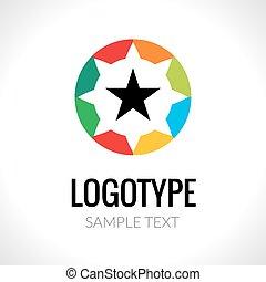 ロゴ, 抽象的な 概念, 星