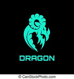ロゴ, 抽象的, ドラゴン