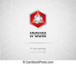 ロゴ, 抽象的, ベクトル, デザイン, テンプレート