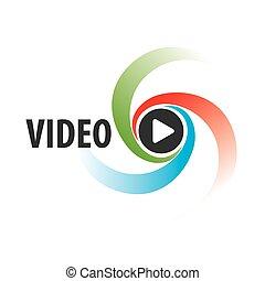 ロゴ, 抽象的, ベクトル, ビデオ, 光景