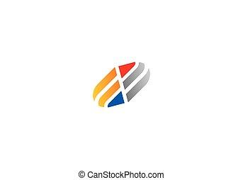 ロゴ, 抽象的, 会社