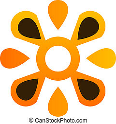 ロゴ, 抽象的, 花