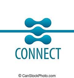 ロゴ, 接続, ベクトル, ネットワーク, 連絡