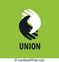 ロゴ, 握手, ベクトル