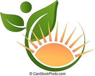 ロゴ, 日当たりが良い, 自然, 生活