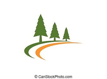 ロゴ, 木, ヒマラヤスギ, テンプレート