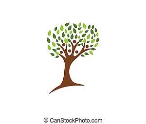 ロゴ, 木, 家族