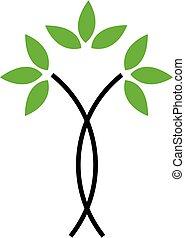 ロゴ, 木, 抽象的