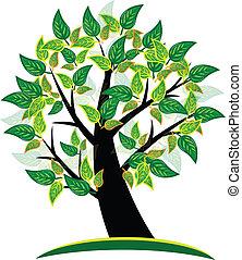 ロゴ, 木, 背景