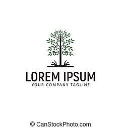 ロゴ, 概念, デザイン, テンプレート, 木