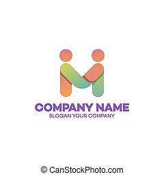 ロゴ, 概念, 協力, テンプレート, ビジネス