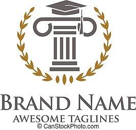 ロゴ, 概念, 教育, 法的, サービス