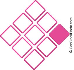 ロゴ, 概念, 9, 正方形, ビジネス