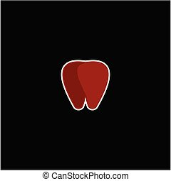 ロゴ, 歯医者の, ベクトル, デザイン, テンプレート