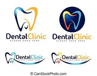 ロゴ, 歯医者の, 歯科医
