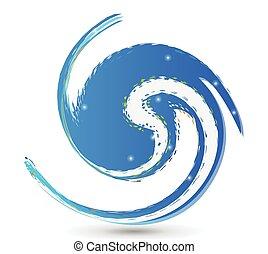 ロゴ, 波