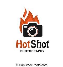 ロゴ, 流行, カメラ, 暑い, 打撃