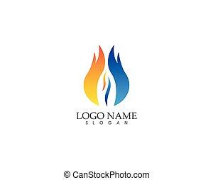 ロゴ, 火, ベクトル, 炎, デザイン