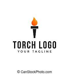 ロゴ, 火, 炎, トーチ, テンプレート, デザイン