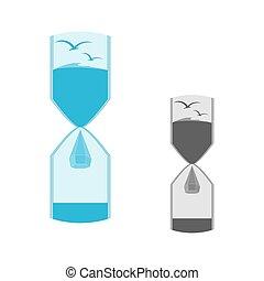ロゴ, 砂時計, 自然