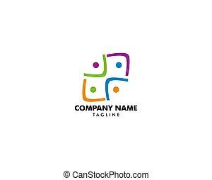 ロゴ, 管理, グループ, 人々, チームワーク