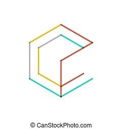 ロゴ, 線, デザイン, 最小である