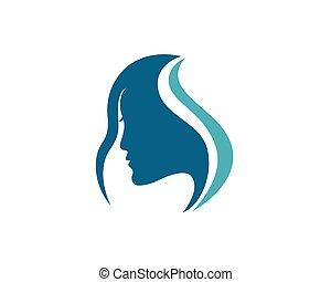 ロゴ, 美しさ, テンプレート