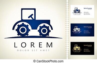 ロゴ, 自動車, ベクトル, トラクター, 農業