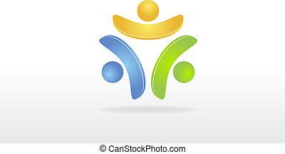 ロゴ, 裁判, チームワーク, 共同経営者