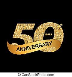 ロゴ, 記念日, テンプレート, 50th