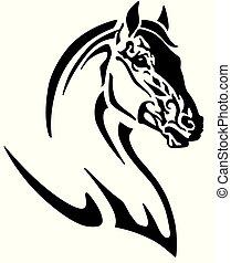 ロゴ, 馬, 頭