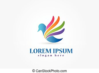ロゴ, 鳥, アイコン