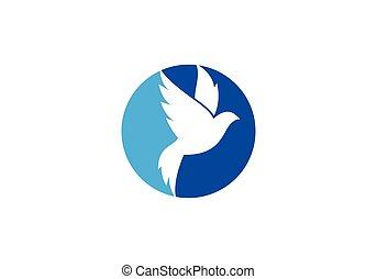 ロゴ, 鳩, テンプレート