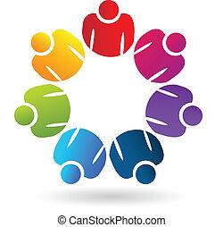 ロゴ, app, 社会, チームワーク, 人々