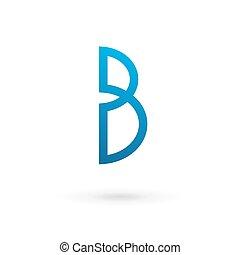 ロゴ, b, 手紙, アイコン