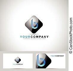 ロゴ, b, 手紙, デザイン