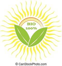 ロゴ, bio, 白い背景, テキスト