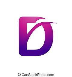 ロゴ, d, 手紙, design.