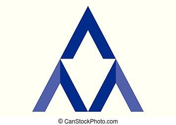 ロゴ, dsign, ベクトル, 手紙